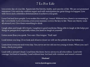 7 Ls For LIfe dan skognes motivation blogger speaker teacher trainer coach educator