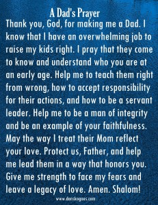 A Dads Prayer Magnet dan skognes motivation blogger speaker teacher trainer coach educator